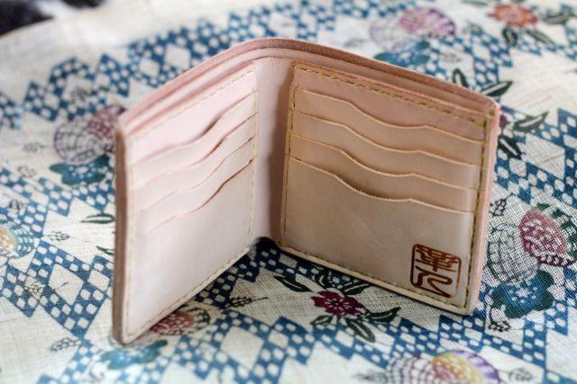 画像1: 二つ折り財布(小銭入れ無し)